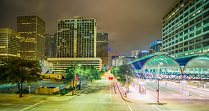 Horizon moderne de Houston Texas la nuit photo stock