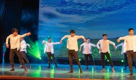 Horizon-Mongoolse Dans van etnische volksdans Royalty-vrije Stock Afbeeldingen