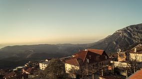 Kruja`s view. Horizon from my balcony in kruja Royalty Free Stock Images