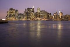 horizon neuf York de Manhattan Photographie stock libre de droits