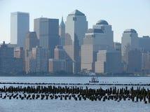 NYC-horizon royalty-vrije stock foto's