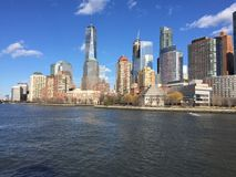 Horizon NYC de Manhattan Photographie stock