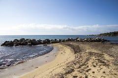 Horizon op het Sardische overzees Stock Afbeelding