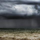 Horizon orageux Photo stock