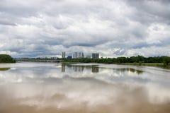 Horizon orageux de Tulsa image libre de droits