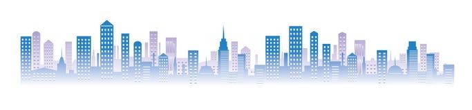 Bleu d'horizon de paysage urbain Photographie stock libre de droits