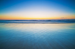 Horizon Over A Blue, Calm Ocean Royalty Free Stock Image
