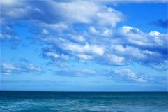 Horizon over the ocean Royalty Free Stock Photo
