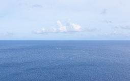 Horizon over sea. Horizon over the Pacific ocean royalty free stock image