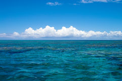 Horizon in the pacific Royalty Free Stock Photo