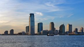 Horizon panoramique de Jersey City Image stock