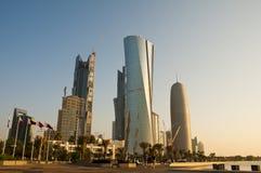 Horizon partiel de Doha Photos stock