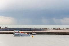 Horizon with rain cloud Stock Photo