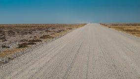 Horizon. Road in the Etosha National Park, Namibia Stock Image
