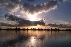 Horizon Rotterdam Stock Foto