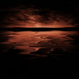 Horizon rouge Images stock