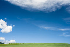 Horizon with round cloud Royalty Free Stock Images