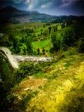 Horizon running to mountains royalty free stock image