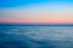 Horizon. Sea horizon with beautiful sunset colors royalty free stock photo