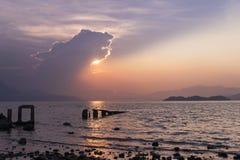Horizon, Sea, Sky, Sunrise royalty free stock images