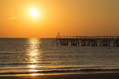 Horizon, Sea, Sunset, Sunrise Royalty Free Stock Photos