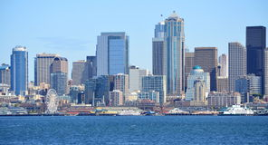 Horizon Seattle uit de Bainbridge-Eilandveerboot die wordt genomen royalty-vrije stock afbeelding