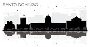 Horizon SI noir et blanc de Santo Domingo Dominican Republic City illustration stock