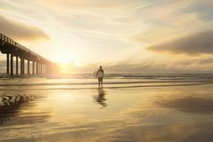 Horizon, Sky, Sea, Sunrise stock photography