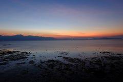 Horizon, Sky, Sea, Sunrise Stock Image
