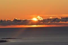 Horizon, Sky, Sunrise, Sunset stock image