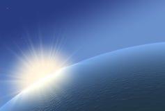 Horizon with sunrise. vector illustration