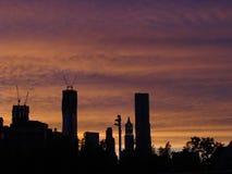 Horizon at sunset Stock Photo
