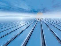 Horizon surréaliste de lever de soleil Photographie stock libre de droits