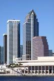 horizon Tampa de fleuve de ville images libres de droits