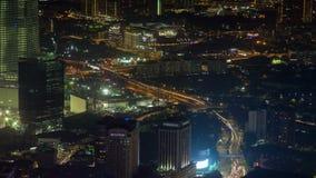 Horizon tijd-Tijdspanne van Kuala Lumpur in Maleisië bij nacht Filter omhoog stock video