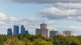 Horizon Timelapse de ville de Toronto banque de vidéos