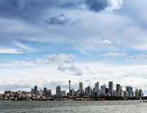 Horizon urbain central de la ville CBD de Sydney dans l'Australie Images libres de droits