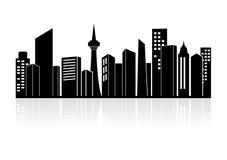 Horizon urbain de paysage ou de ville Photos stock