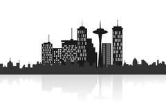 Horizon urbain de ville illustration libre de droits
