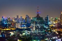 Horizon urbain moderne de ville, Bangkok, Thaïlande Image libre de droits