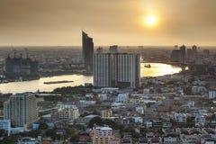 Horizon urbain moderne de ville, Bangkok, Thaïlande. Photo stock