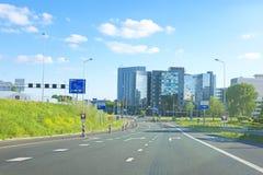 Horizon van Amsterdam Nederland Royalty-vrije Stock Afbeeldingen