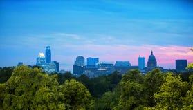 Horizon van Austin, Texas Royalty-vrije Stock Afbeeldingen