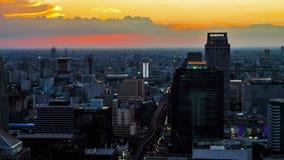 Horizon van Bangkok bij zonsondergang stock videobeelden
