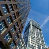 Horizon van bedrijfsgebouwen in Frankfurt, Duitsland Royalty-vrije Stock Afbeelding