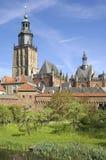 Horizon van beschermde cityscape, stad Zutphen Royalty-vrije Stock Foto's