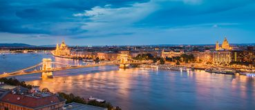 Horizon van Boedapest, Hongarije stock fotografie