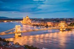Horizon van Boedapest, Hongarije stock foto's