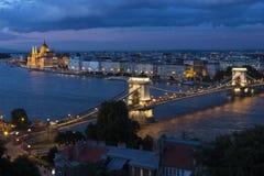 Horizon van Boedapest - Hongarije Stock Afbeeldingen