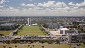 Horizon van Brasilia op een zonnige dag royalty-vrije stock foto